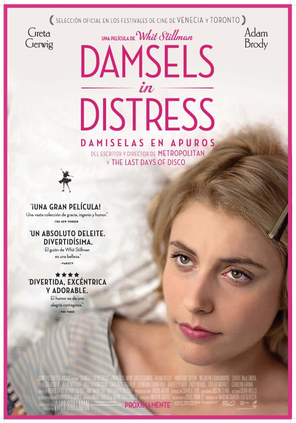 Cartel de Damsels in Distress (Damiselas en apuros)