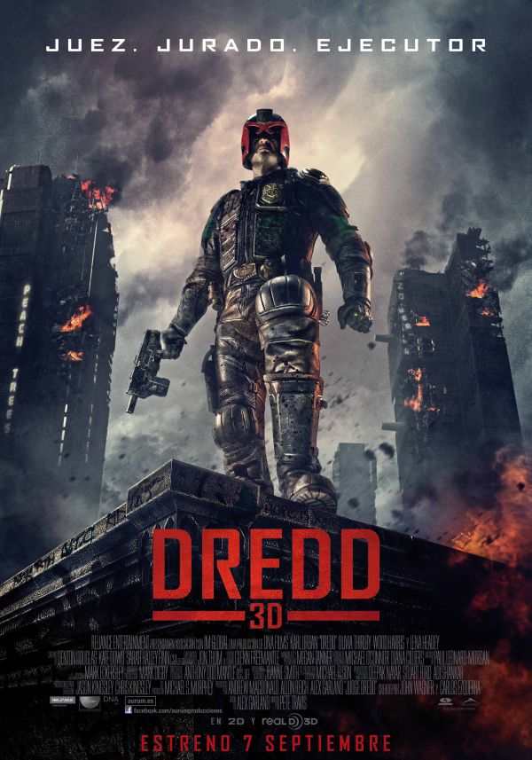 Cartel final de Dredd 3D