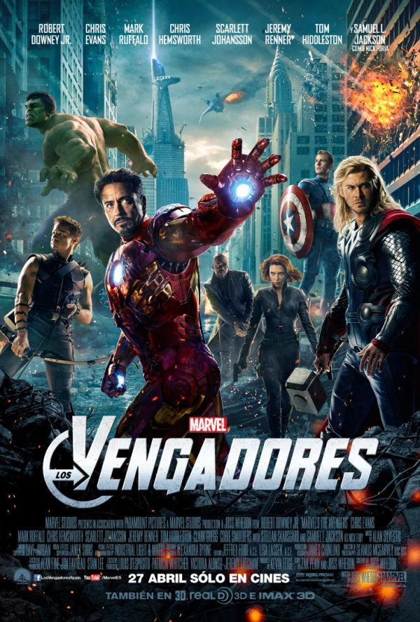 Cartel final de Los Vengadores (2012)