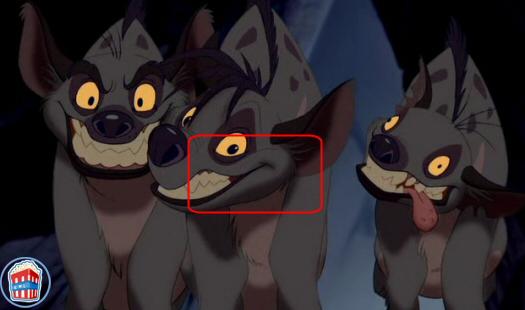 errores de la pelicula rey leon Hiena02